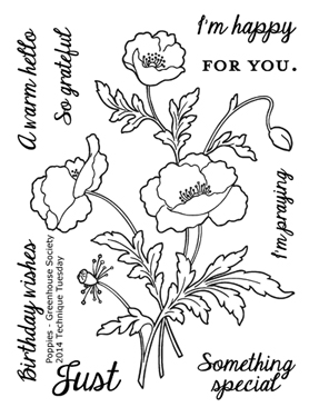Technique-Tuesday-Greenhouse-Poppies-Clear-Stamp-Medium