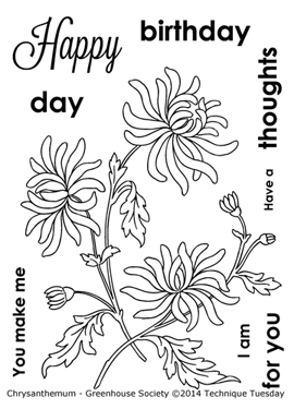 Technique-Tuesday-Greenhouse-Chrysanthemum-Clear-Stamp-Medium