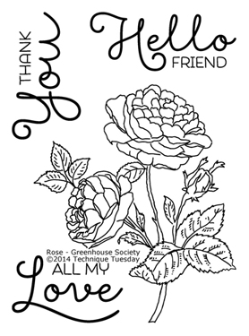 Technique-Tuesday-Greenhouse-Society-Rose-Clear-Stamps-Medium