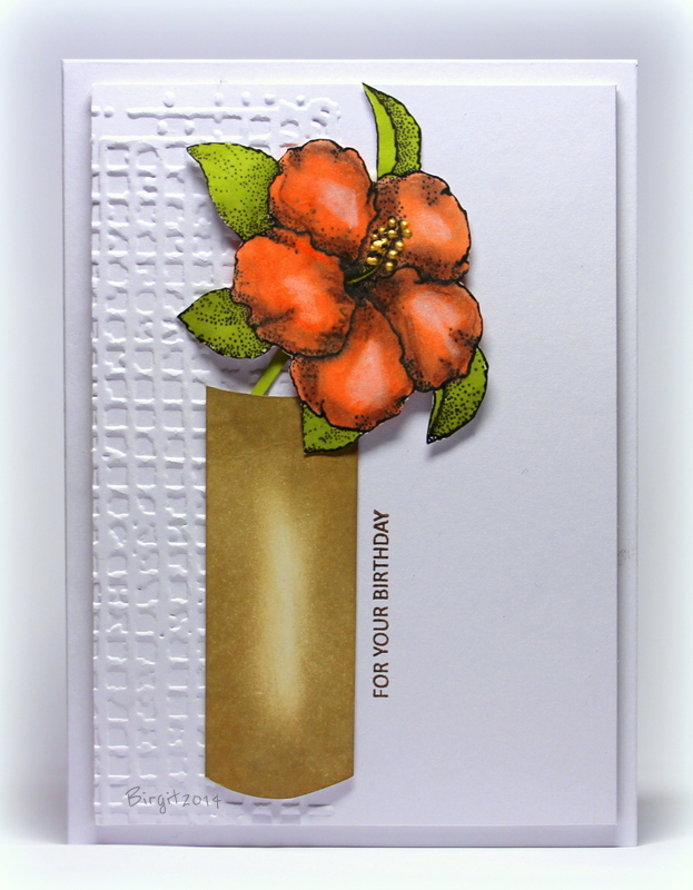 A card by Birgit Edblom made with Technique Tuesday stamps