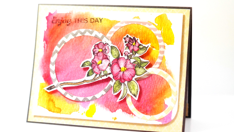 A card created by Lisa Adametz with clear stamps from TechniqueTuesday.com