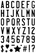 License Plate Alphabet stamp set from TechniqueTuesday,com
