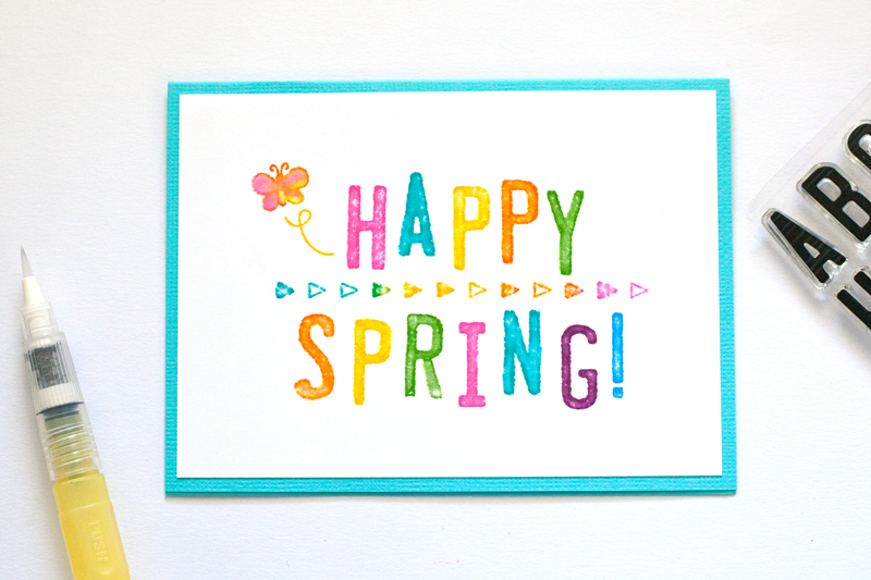 Happy Spring card by Linda Barber