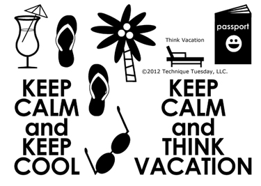 Think Vacation stamp set from TechniqueTuesday.com