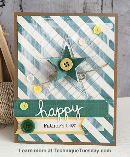 Father's Day card by Daniela Dobson for TechniqueTuesday.com