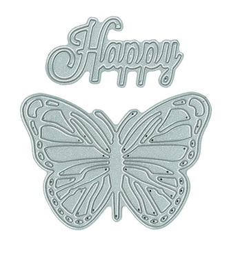 Happy Butterfly steel dies from TechniqueTuesday.com