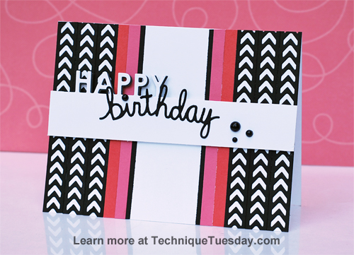 Birthday card by Jaclyn Miller for TechniqueTuesday.com