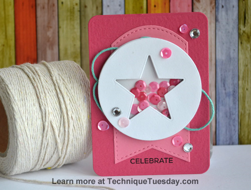 Celebrate Star Shaker Story Card from TechniqueTuesday.com