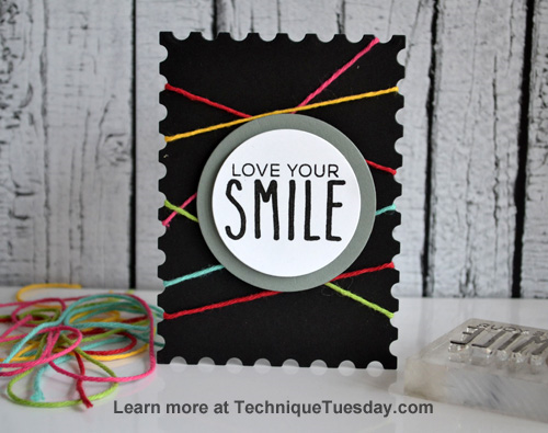 Love Your Smile Story Card from TechniqueTuesday.com
