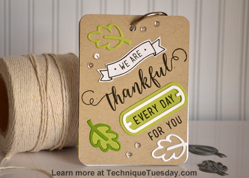Thankful Mini Book from TechniqueTuesday.com