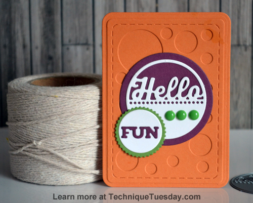 Hello Fun Story Card by TechniqueTuesday.com