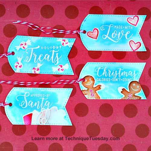 Holiday Treats Tags by Tonya Dirk for TechniqueTuesday.com