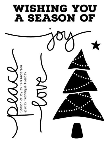 Season of Joy clear stamp set from TechniqueTuesday.com
