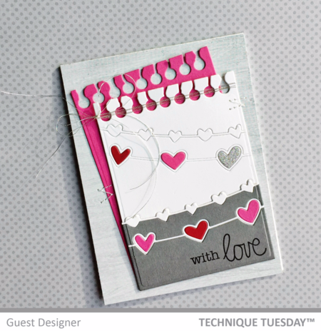 With Love by Jill Hawkins for Technique Tuesday // TechniqueTuesday.com