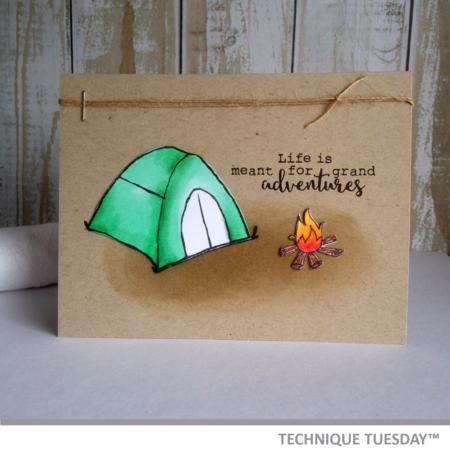 Handmade card from Technique Tuesday // TechniqueTuesday.com