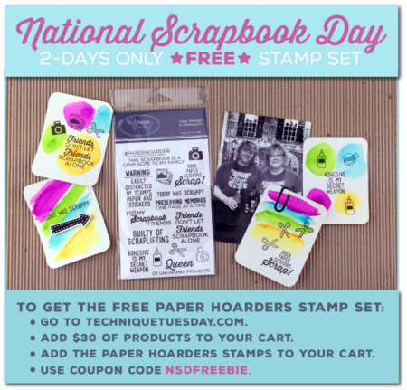 Paper Hoarders stamp set from Technique Tuesday // TechniqueTuesday.com