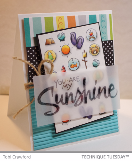 Sunshine card by Tobi Crawford for Technique Tuesday // TechniqueTuesday.com