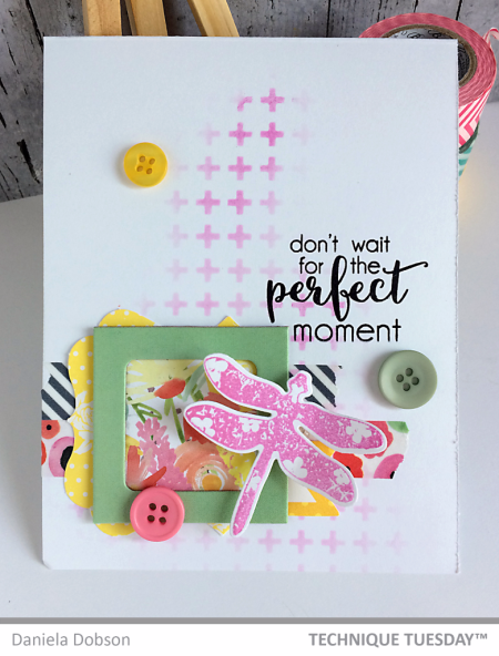 Handmade card by Daniela Dobson for Technique Tuesday // TechniqueTuesday.com