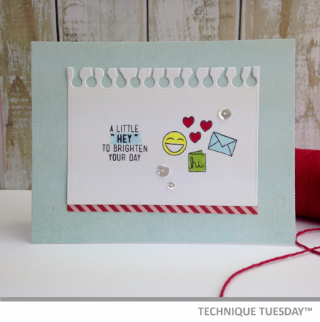 Handmade card by Teri Anderson for Technique Tuesday // TechniqueTuesday.com