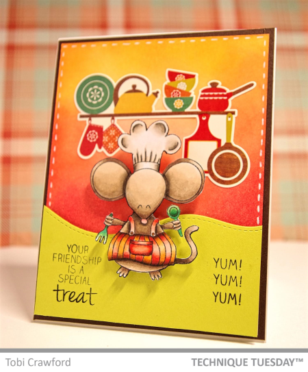 A handmade card by Tobi Crawford for Technique Tuesday // TechniqueTuesday.com