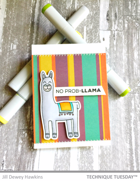 No-Prob-Llama-Handmade-Card-Punny-Jill-H-Technique-Tuesday