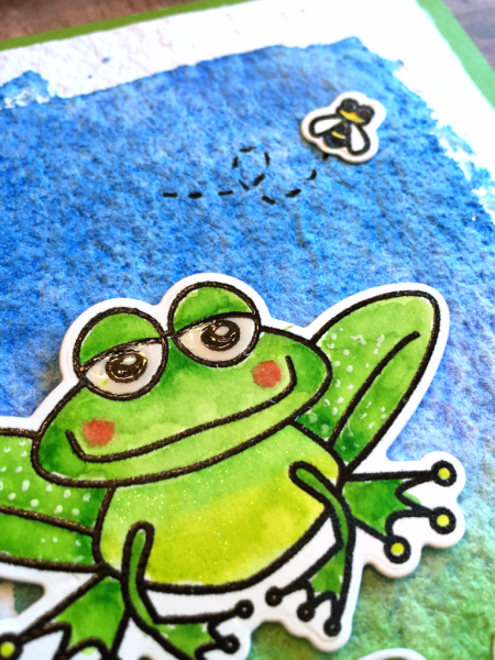 Ribbit Frog handmade card by Jana Millen for Technique Tuesday // TechniqueTuesday.com