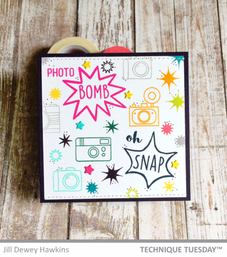 Photo-Bomb-Handmade-Card-Cameras-Jill-H-Technique-Tuesday