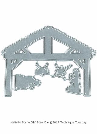 Nativity-Scene-DIY-Steel-Die-Technique-Tuesday