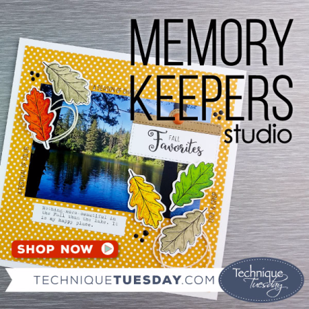Memory Keepers Studio clear stamps from Technique Tuesday // TechniqueTuesday.com