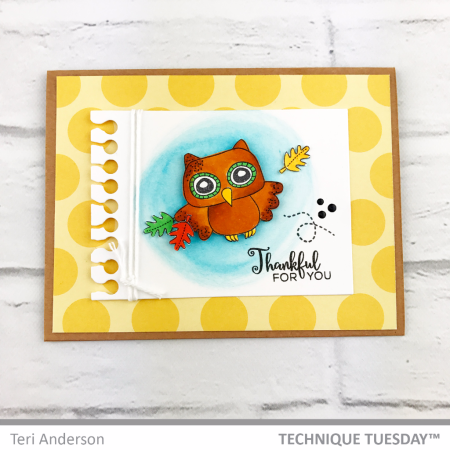 Thankful-For-You-Owl-Handmade-Card-Teri-A-Technique-Tuesday