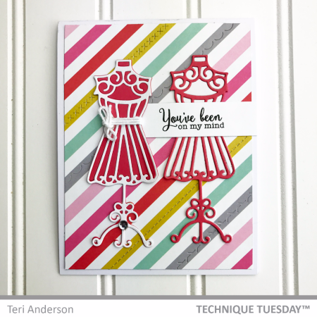 On-My-Mind-Dress-Forms-Handmade-Card-Teri-A-Technique-Tuesday