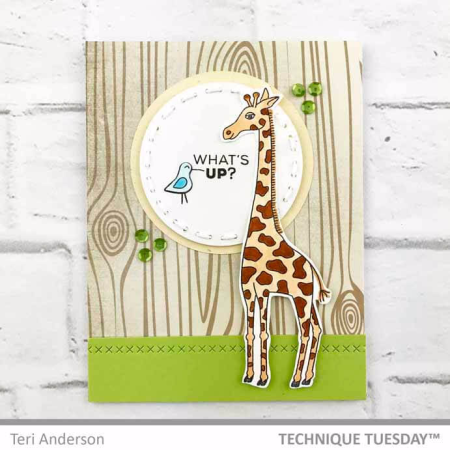 Giraffe-Whats-Up-Handmade-Card-Teri-A-Technique-Tuesday