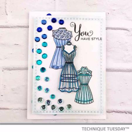 Blue-Dress-Form-Card-Shelley-G-Technique-Tuesday