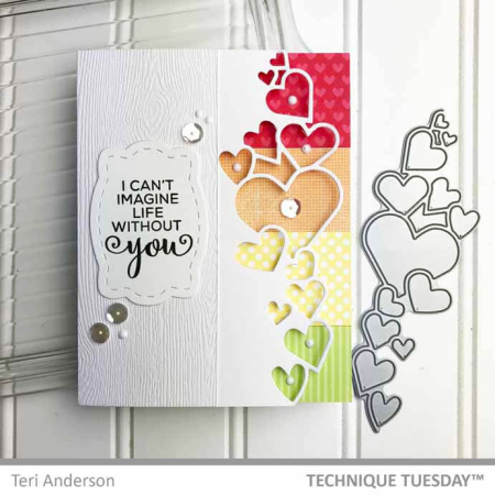 Rainbow-Heart-Border-Card-Teri-A-Technique-Tuesday