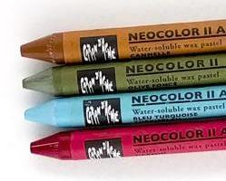 Watercolor crayons from Technique Tuesday  // TechniqueTuesday.com