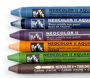 Watercolor crayons from Technique Tuesday  || TechniqueTuesday.com