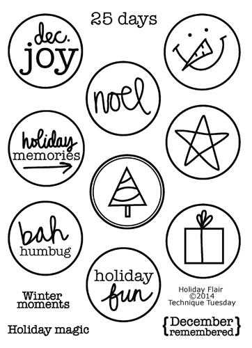 Technique-Tuesday-Holiday-Flair-Clear-Stamps-Large
