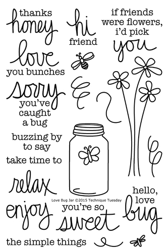 Love Bug Jar stamp set from TechniqueTuesday.com