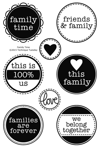 Family Time stamp set from TechniqueTuesday.com