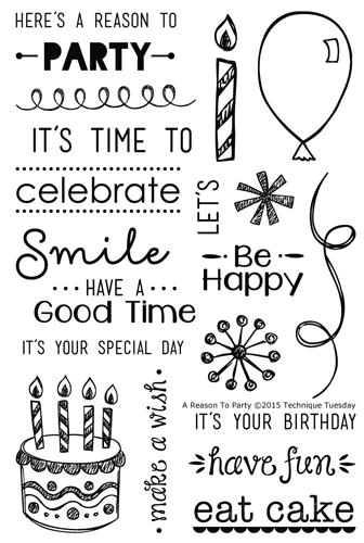 A Reason to Party stamp set from TechniqueTuesday.com
