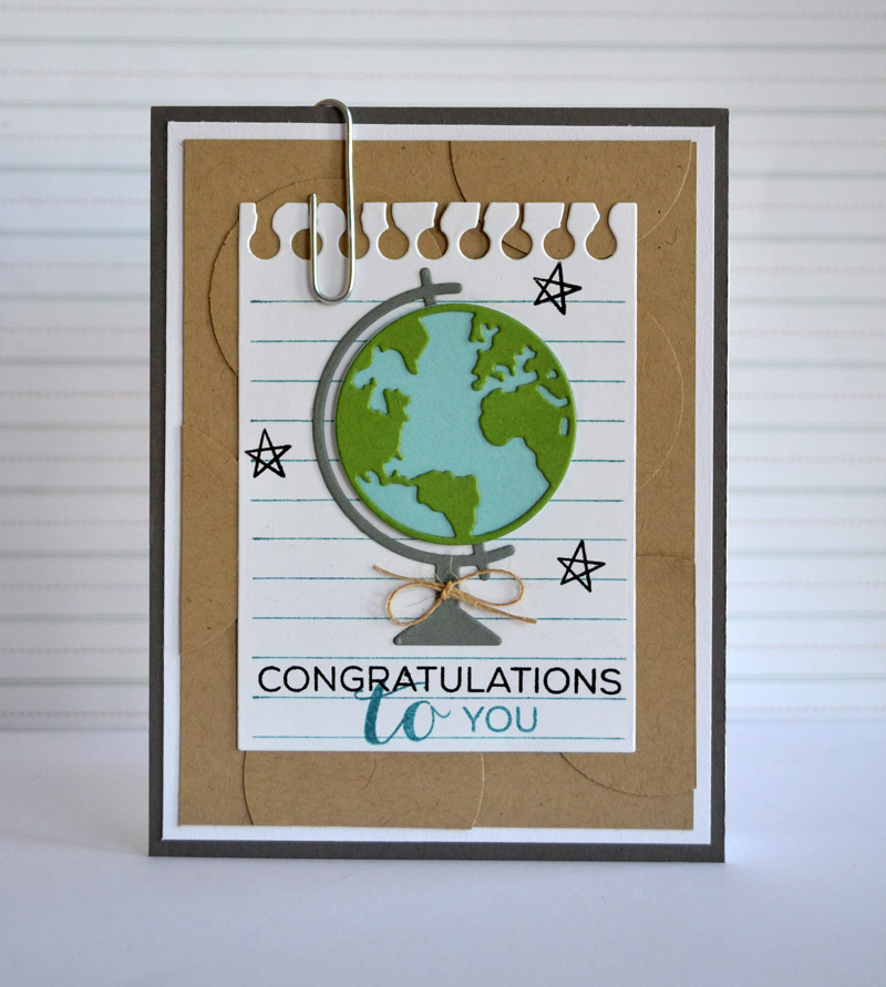 Congrats Globe card from TechniqueTuesday.com