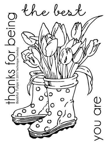 Bootiful - Greenhouse Society clear stamp set from TechniqueTuesday.com