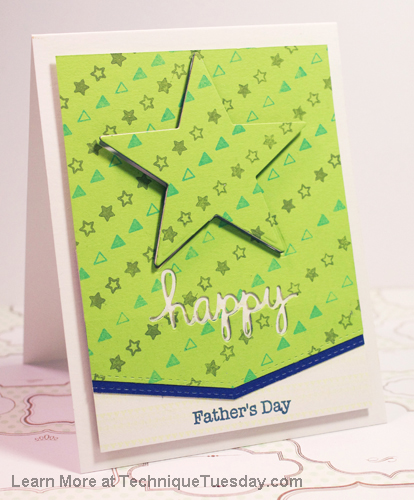 Father's Day card by Tobi Crawford for TechniqueTuesday.com