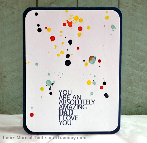 Amazing Dad card from TechniqueTuesday.com