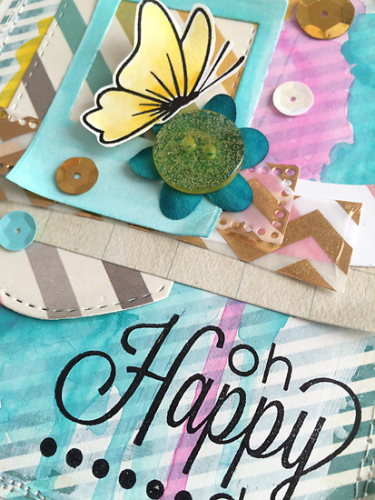 Oh Happy Day card by Daniela Dobson for TechniqueTuesday.com