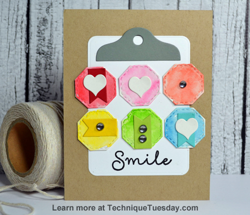 Smile Clipboard card from TechniqueTuesday.com