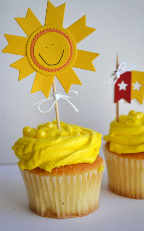 Sunshine Cupcake Pick from TechniqueTuesday.com