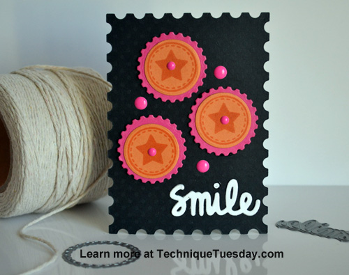 Smile Story Card from TechniqueTuesday.com