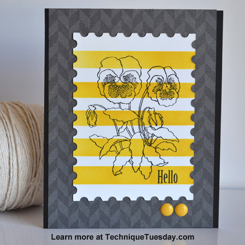 Hello Pansy card from TechniqueTuesday.com