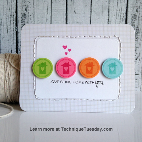 Home with You card from TechniqueTuesday.com